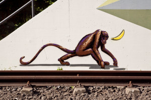 Affe_Nordbahntrasse_Graffiti_Wuppertal