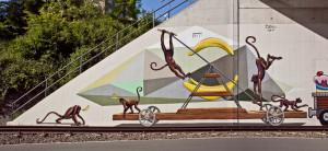 Graffiti Drasine_Norbahntrasse Wuppertal